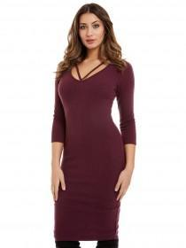 Jane Norman Berry Rib Bodycon Dress