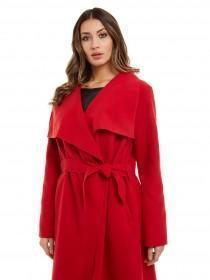 Jane Norman Red Wrap Coat