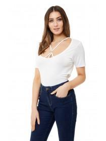 Jane Norman White Harness T-Shirt