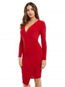 Jane Norman Red Plunge Dress