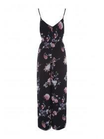 Jane Norman Black Floral Jumpsuit