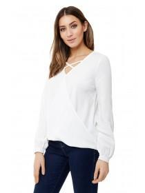 Jane Norman White Cross Front Wrap Top