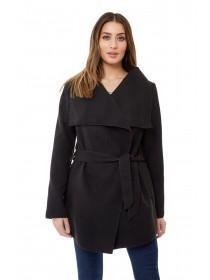Jane Norman Black Wrap Coat