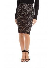 Jane Norman Black Lace Pencil Skirt