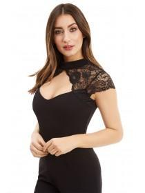 Jane Norman Black Lace Shrug Jumpsuit