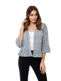 Jane Norman Grey Frill Cardigan