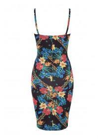 Jane Norman Black Tropical Print Strappy Dress