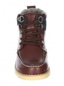 Boys Brown PU Boots