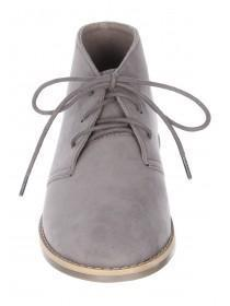 Boys Grey Lace Up Boots
