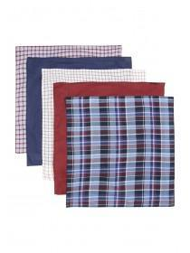 Mens 5pk Burgundy Handkerchiefs