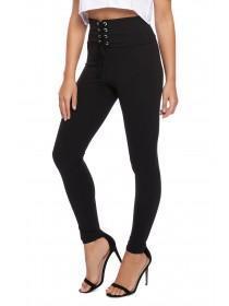 Jane Norman Black Corset Waist Trousers