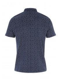 Mens Short Sleeve Printed Polo Shirt