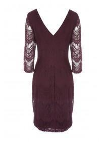 Womens Purple Lace Eyelash Dress