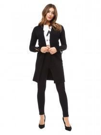 Jane Norman Black Long Line Cardigan