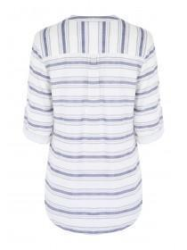 Womens White Striped Shirt