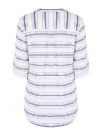 Womens White Striped Shirt