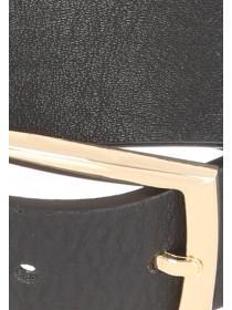 Womens Black Plain Belt