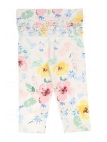 Baby Girls Pale Pink Floral Leggings