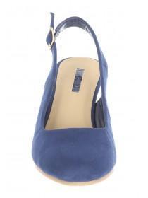 Womens Dark Blue Slingback Wedged Shoe