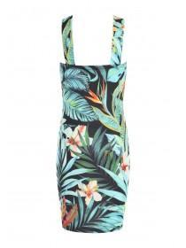 Older Girls Palm Tree Printed Cross Front Sophie Dress