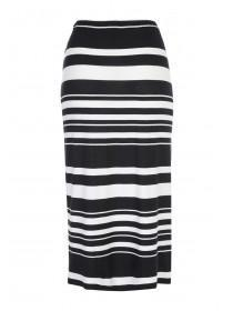Womens Striped Jersey Midi Skirt