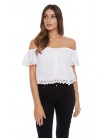 Jane Norman White Off Shoulder Top