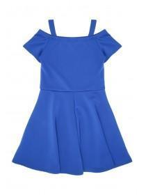 Older Girls Blue Cold Shoulder Dress