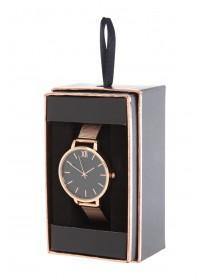 Womens Rose Gold Mesh Strap Watch