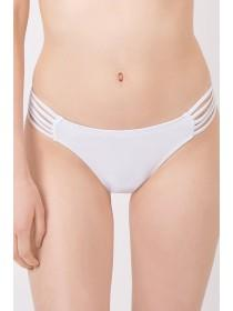Jane Norman White Strap Detail Bikini Brief
