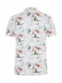Mens Christmas Scene Polo Top
