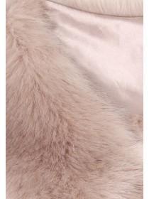 Womens Pink Faux Fur Stole