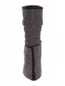 Womens Diamante Slouch Boots
