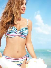 Womens Stripe Tie Bikini Briefs
