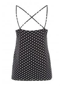 Womens Monochrome Spot Cami Top