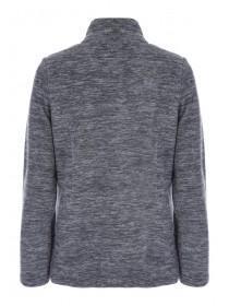 Womens Grey Marl Zip Up Fleece Jacket