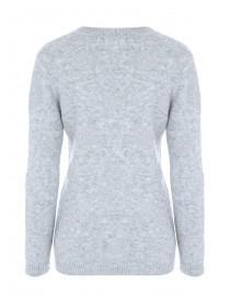 Womens Silver Spot Grey Jumper