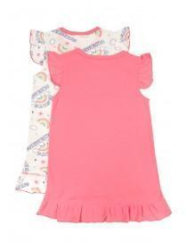 Girls 2pk Pink Nightdresses