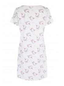 Womens White Unicorn Nightdress