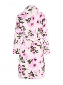 Womens Pink Floral Dressing Gown