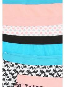 Girls 5pk Heart Design Shorts