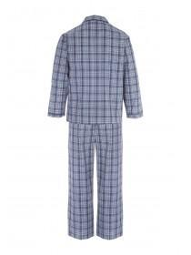 Mens Blue Check Pyjama Set