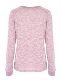 Womens Pink Lounge Top