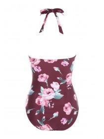 Womens Floral Bandeau Swimsuit