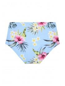 Womens Hawaiian Print High Waist Bikini Briefs