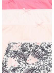 Womens 4pk Pink Paisley Full Briefs