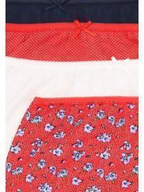 Womens 4pk Red Full Briefs