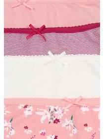 Womens 4pk Pink Floral High Cut Briefs