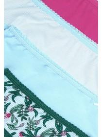 Womens 4pk Blue Mini Briefs
