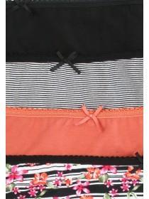 Womens 4pk Orange Mini Briefs