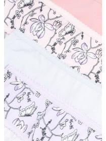Womens 4pk Pink Mini Briefs